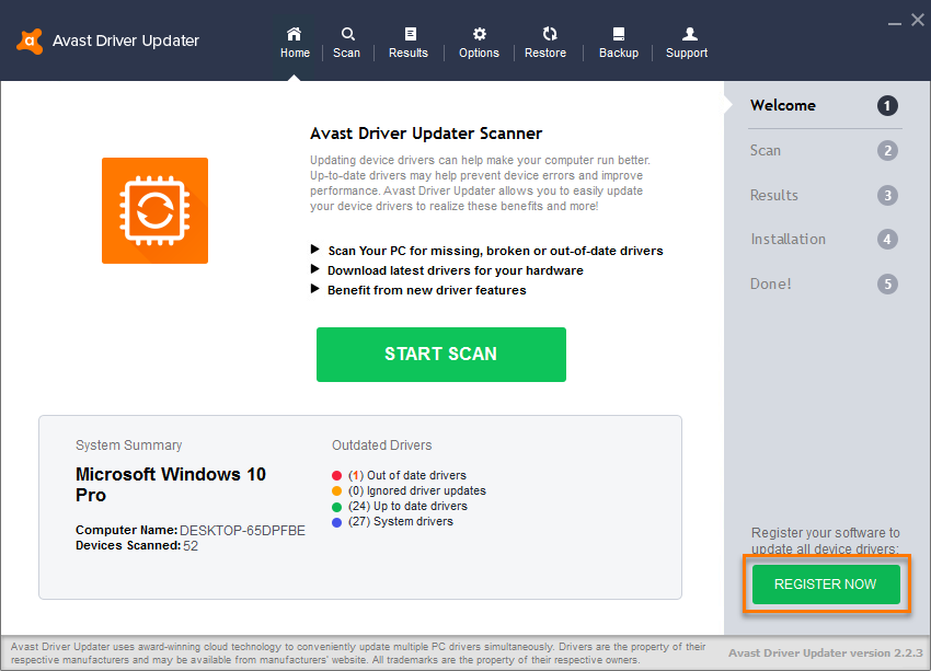 Avast Driver Updater 2.5.9 Crack Serial Key