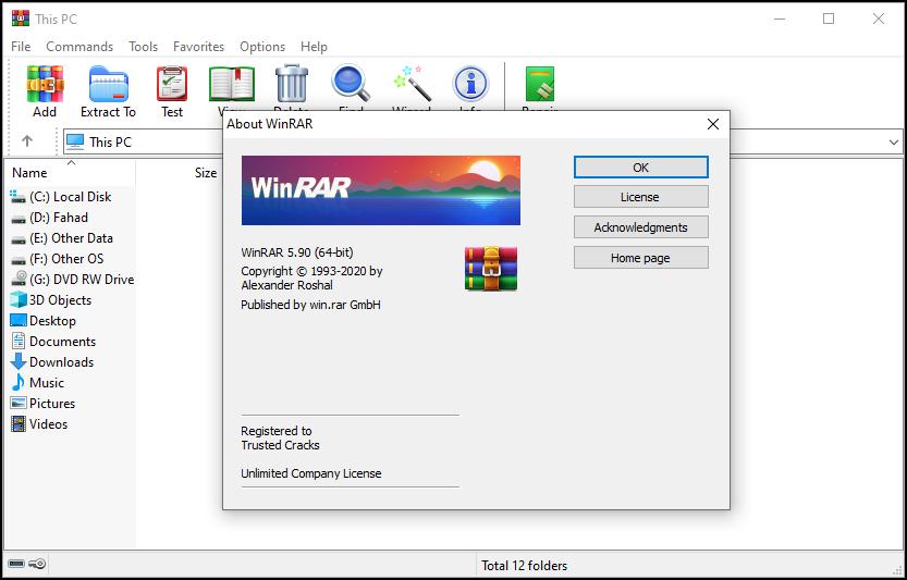 WinRAR 5.91 Crack License Key