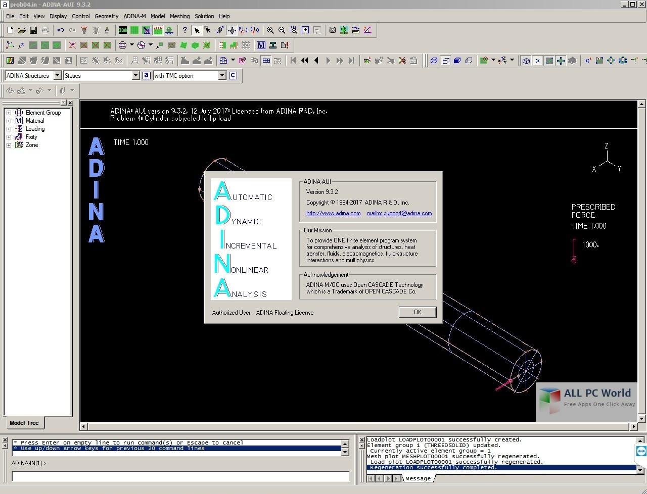 ADINA System 9.6.3 Crack Serial Key