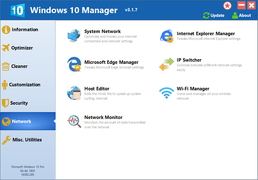 Windows 10 Manager Pro 3.4.5 Crack Serial Key