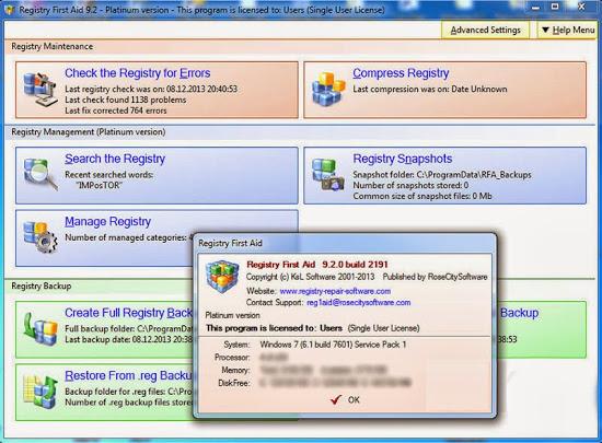 Registry First Aid Platinum v11.3.0 Build 2585 With Crack Serial Key