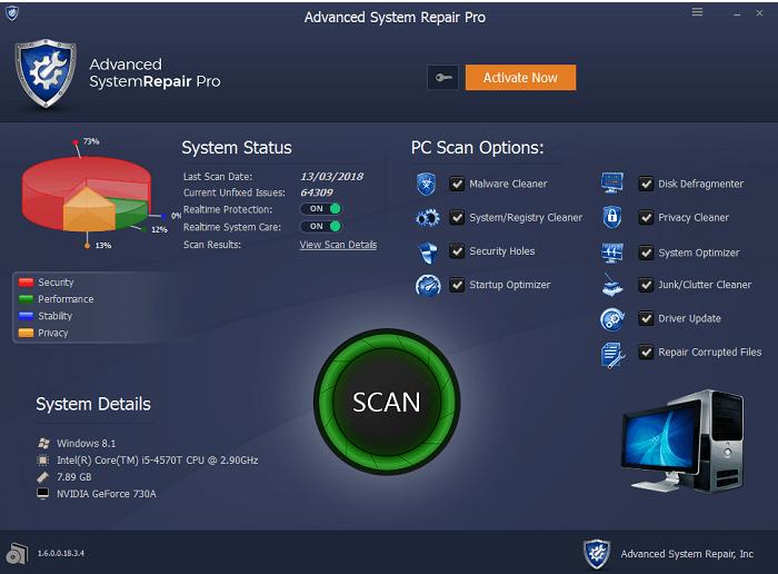 Advanced System Repair Pro Full Crack + License Key Full Version